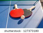 table tennis ping pong two... | Shutterstock . vector #127373180