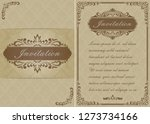 premium invitation or wedding... | Shutterstock .eps vector #1273734166