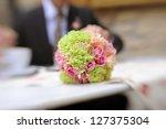 wedding elegant bouquet on... | Shutterstock . vector #127375304