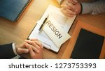 man with resignation letter for ... | Shutterstock . vector #1273753393