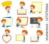 vector illustration of cartoon... | Shutterstock .eps vector #1273753666