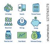 retirement account   savings... | Shutterstock .eps vector #1273763173