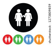 two women holding hands icon... | Shutterstock .eps vector #1273809859