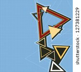 abstract retro triangle... | Shutterstock .eps vector #127381229