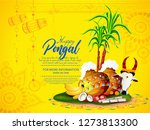 happy pongal festival of tamil... | Shutterstock .eps vector #1273813300