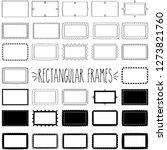 elegant decorative rectangle... | Shutterstock .eps vector #1273821760