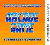 arcade game alphabet font.... | Shutterstock .eps vector #1273827346