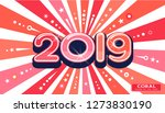banner card. 2019 coral color... | Shutterstock .eps vector #1273830190