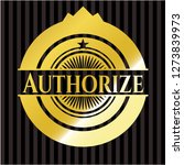 authorize shiny emblem | Shutterstock .eps vector #1273839973