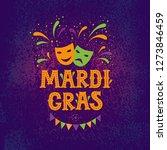 mardi gras lettering logotype ... | Shutterstock .eps vector #1273846459