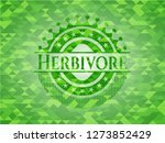 herbivore green emblem with... | Shutterstock .eps vector #1273852429