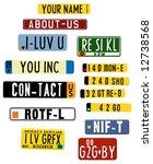 vector license plate graphics... | Shutterstock .eps vector #12738568