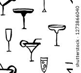 seamless pattern with cocktails.... | Shutterstock .eps vector #1273866040