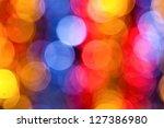 Varicolored Bokeh Background