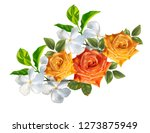 rose ans apocyneceae beautiful... | Shutterstock .eps vector #1273875949