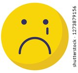 weeping  sad vector isolated... | Shutterstock .eps vector #1273879156
