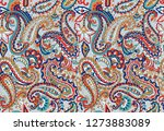 seamless indian paisley pattern | Shutterstock . vector #1273883089