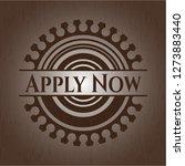 apply now wooden emblem. retro   Shutterstock .eps vector #1273883440