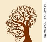 human brain  green thoughts | Shutterstock .eps vector #127389614