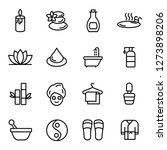 spa icons pack. isolated... | Shutterstock .eps vector #1273898206