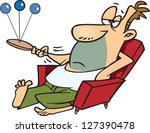 a vector illustration of lazy...   Shutterstock .eps vector #127390478