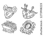set of cartoon different magic... | Shutterstock .eps vector #1273908223