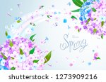 beautiful floral background... | Shutterstock .eps vector #1273909216