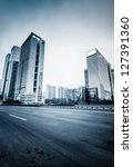 street of city at shenzheng...   Shutterstock . vector #127391360