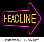 illustration depicting a neon... | Shutterstock . vector #127391894