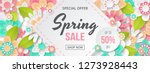 spring sale banner with... | Shutterstock .eps vector #1273928443