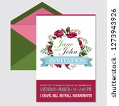wedding invite  invitation menu ... | Shutterstock .eps vector #1273943926