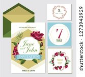 wedding invite  invitation menu ... | Shutterstock .eps vector #1273943929