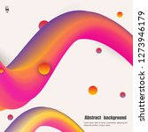 colorful wave with grunge... | Shutterstock .eps vector #1273946179