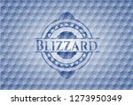 blizzard blue badge with... | Shutterstock .eps vector #1273950349
