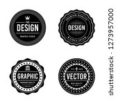 vintage badge design | Shutterstock .eps vector #1273957000