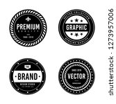 vintage badge design | Shutterstock .eps vector #1273957006
