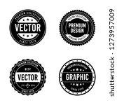 vintage badge design | Shutterstock .eps vector #1273957009
