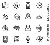 ramadan icons pack. isolated... | Shutterstock .eps vector #1273963510
