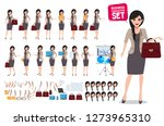 woman business character vector ... | Shutterstock .eps vector #1273965310