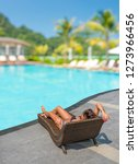 woman by the swimming pool | Shutterstock . vector #1273966456