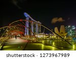 singapore city  singapore  ... | Shutterstock . vector #1273967989