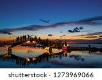 bridge in lefkas town greece | Shutterstock . vector #1273969066
