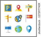 9 continent icon. vector...   Shutterstock .eps vector #1273977439