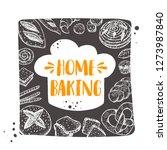 home baking. hand drawn vector...   Shutterstock .eps vector #1273987840