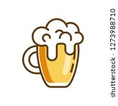 beer glass concept line icon....