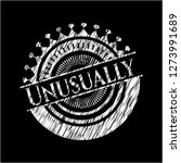 unusually on chalkboard | Shutterstock .eps vector #1273991689