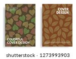modern cover design with leaf... | Shutterstock .eps vector #1273993903