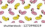 duck flamingo seamless pattern... | Shutterstock .eps vector #1273998319