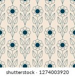 seamless retro pattern with... | Shutterstock .eps vector #1274003920
