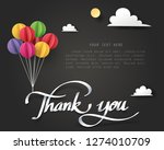 paper art of thank you... | Shutterstock .eps vector #1274010709